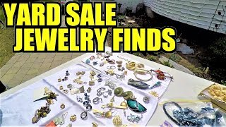 Ep182: ANOTHER NICE JEWELRY HAUL AND SOME FREE STUFF! WOW!!! * The ORIGINAL Yard Sale VLOG!