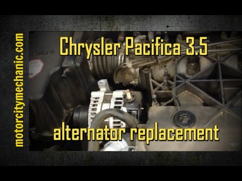 chrysler pacifica 3 5 alternator replacement youtube