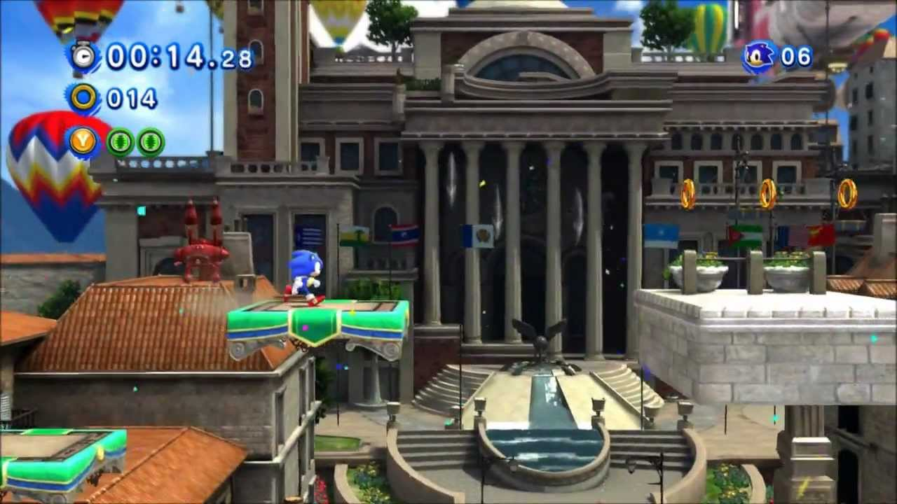 Sonic Generations Rooftop Run Classic Youtube