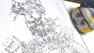 お絵かき:ふんわりとしたスランプを迎えた【2020/4/2】