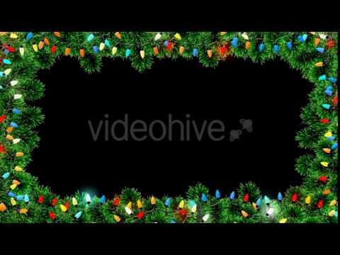 christmas lights frame motion graphics - Christmas Lights Frame
