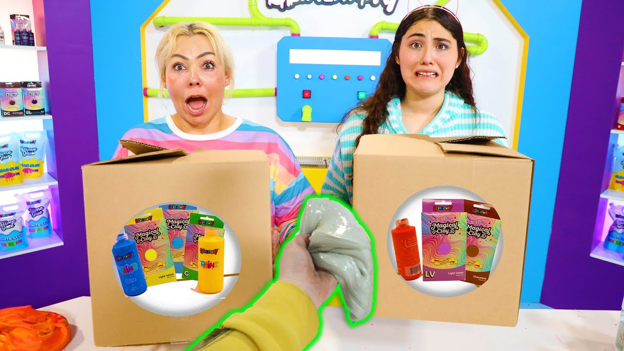 FIX THIS SLIME BUT USING THIS RANDOM BOX OF INGREDIENTS CHALLENGE! Slimeatory #649