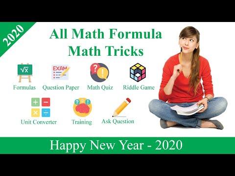All Math Formula, Math Quiz, All Math Tricks - Apps on