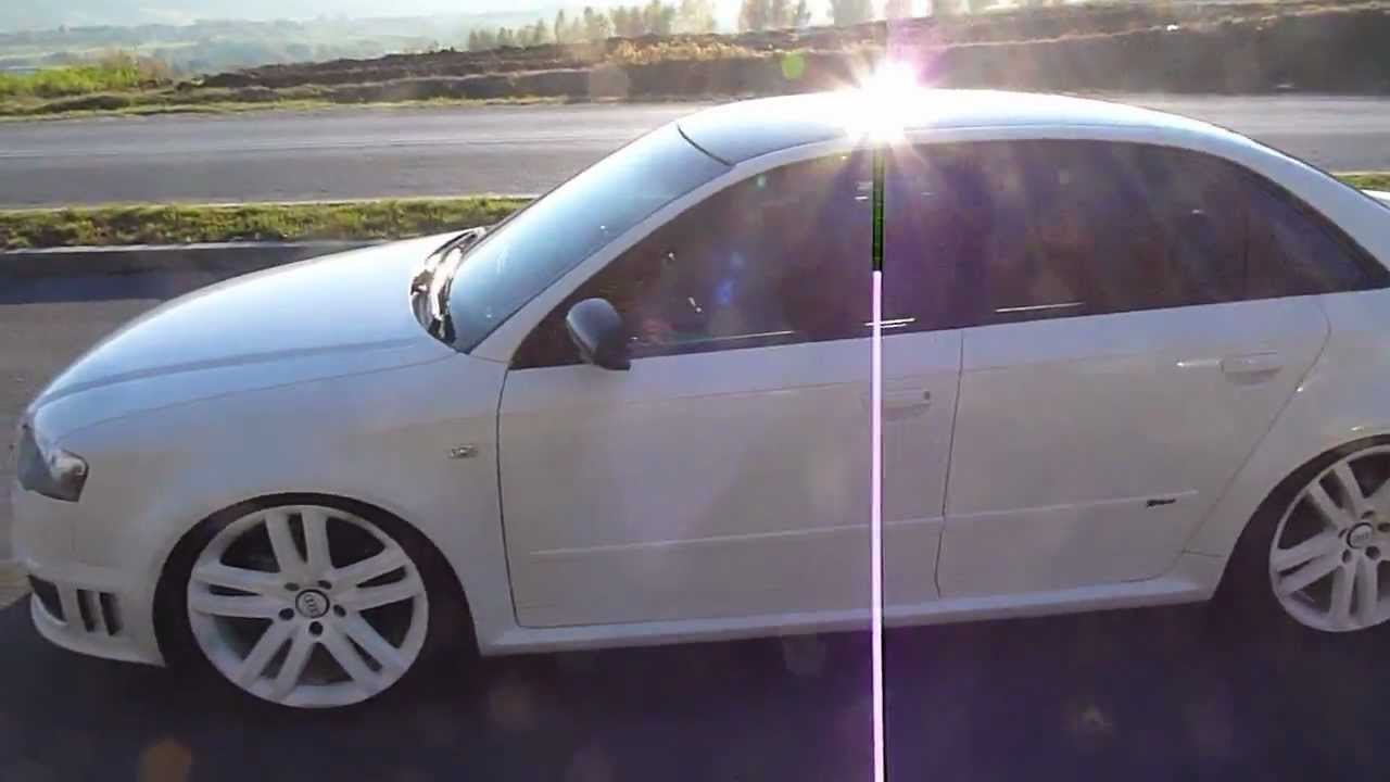 Audi a4 b6 rs4 b7 white with 2 7 turbo engine youtube for Mueble 2 din audi a4 b6