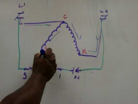 3 Phase Motor Wiring Diagrams Potential Relay Youtube
