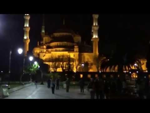 Очень красивый азан из Голубой мечети в Стамбуле. Beautiful Azan Istanbul Blue Mosque. Ezan