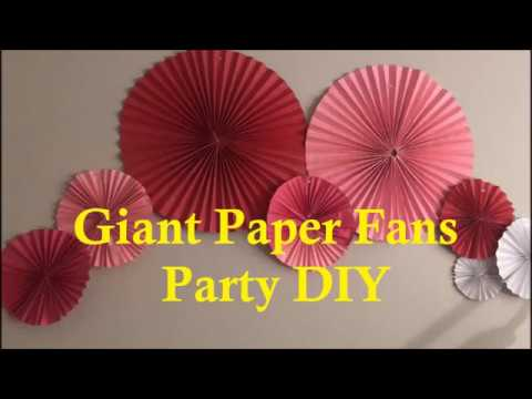 Easy paper fans | Birthday decoration idea 💡