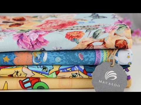 Floral cotton canvas digital printed fabric