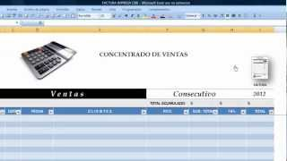 Elabore sus Facturas con  CBB en Excel