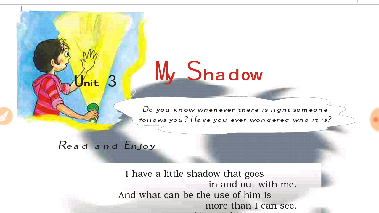 hight resolution of Unit 3    MY SHADOW    Class V NCERT English Marigold (हिंदी में) - YouTube