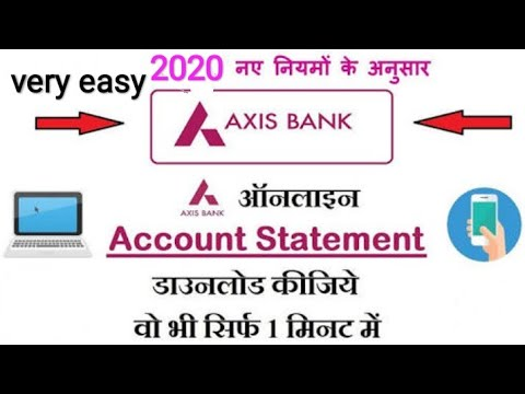 How To Download Axis Bank Credit Card Statement Online //full Information