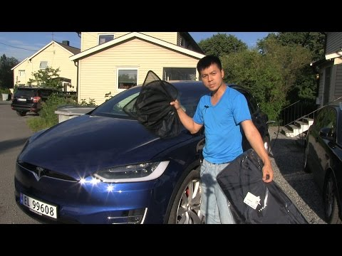 Tesla Model X sunshades review and demo