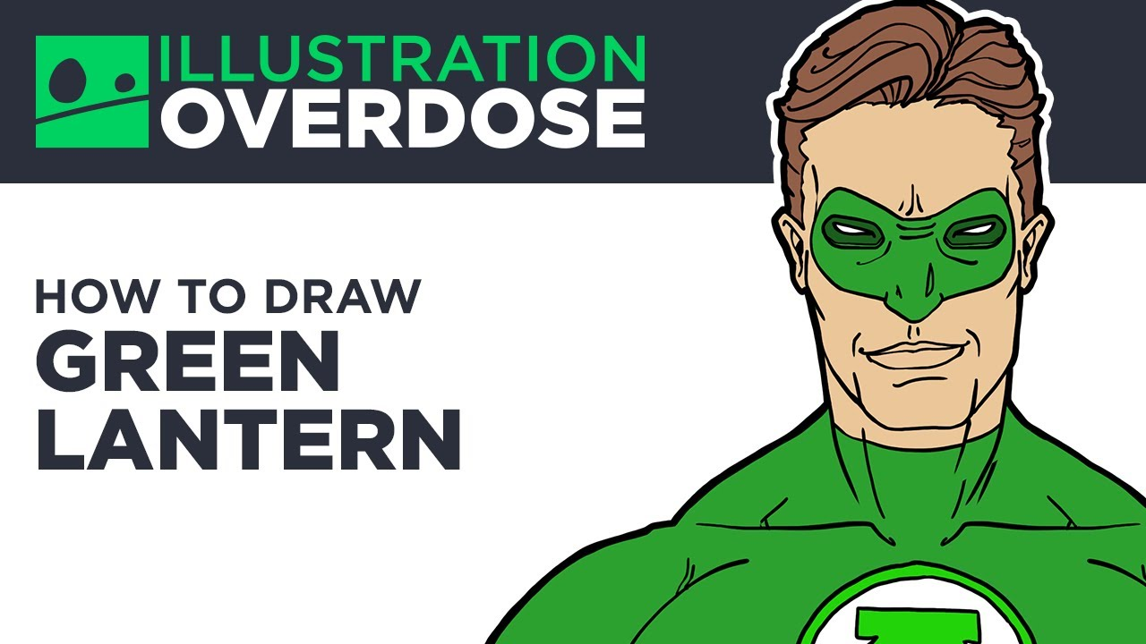how to draw green lantern youtube