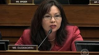 War veteran Rep. Duckworth scolds IRS contractor for using disability status