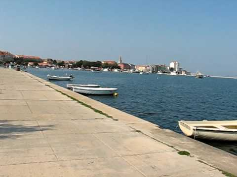 Umag Croatia - traveling to town center with riksha