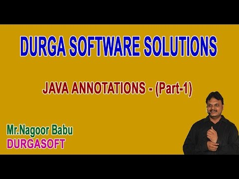 Java Annotations Part 1