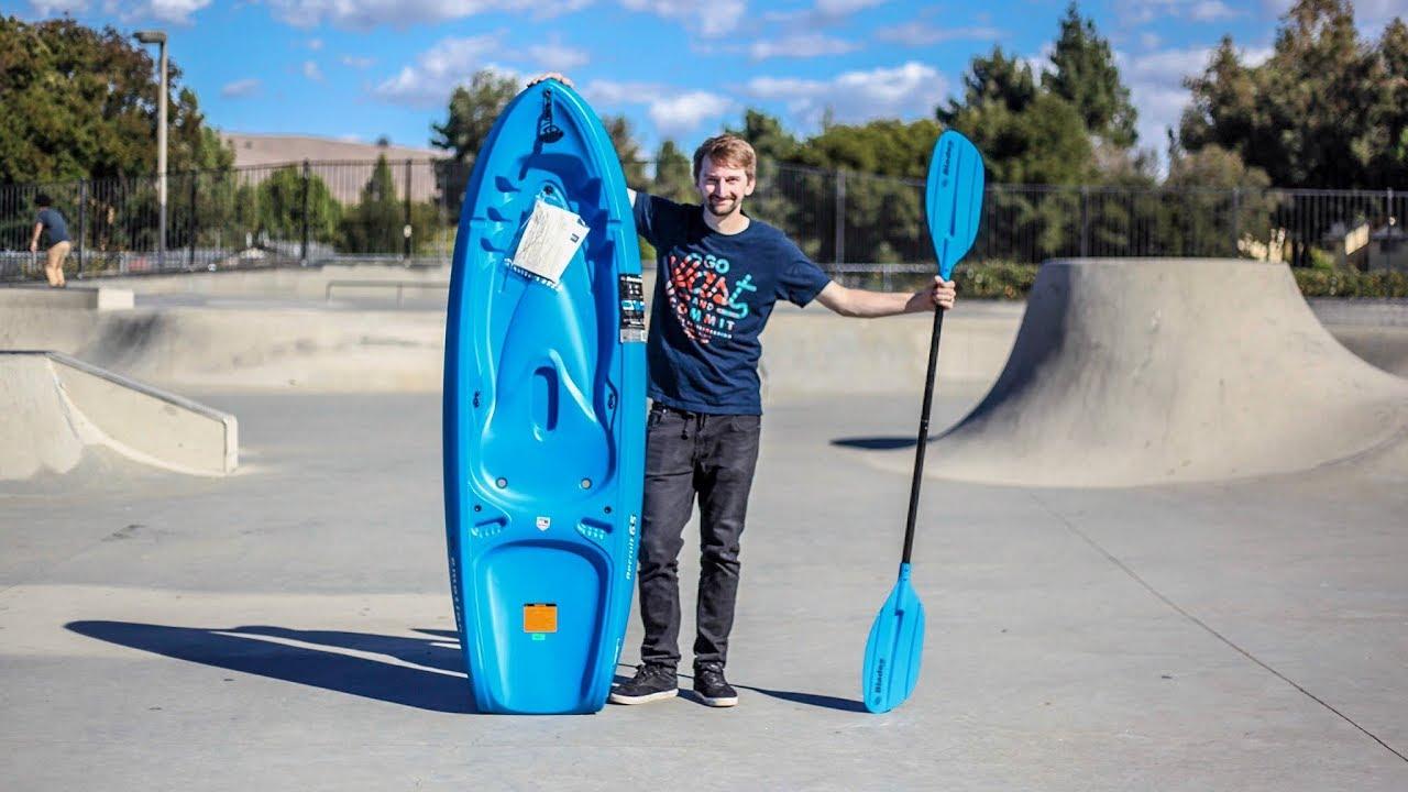 Kayaking at the skate park 2.0