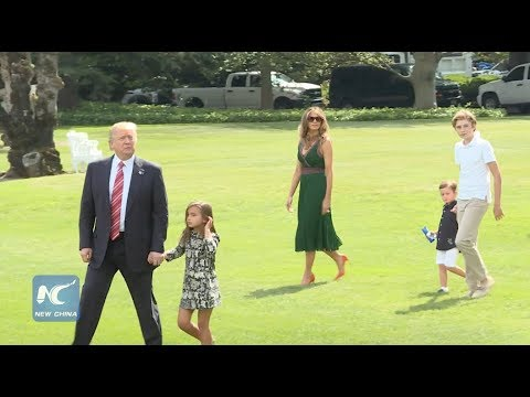 Trump departs White House with Grandkids, Melania, Ivanka to Camp David ahead of Hurricane Harvey