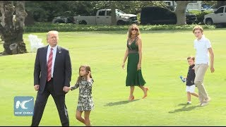 Trump departs White House with Grandkids, Melania, Ivanka to Camp David ahead of Hurricane Harvey