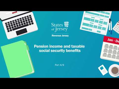 Pension income and taxable Social Security benefits: tax