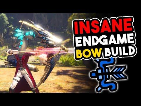 MHW NEW *INSANE* End Game BOW BUILD - Monster Hunter World