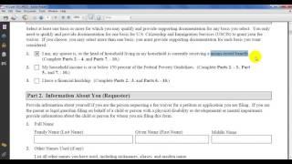 Як замовити збір форма I-912 для імміграційних форм, коли ви не в змозі платити