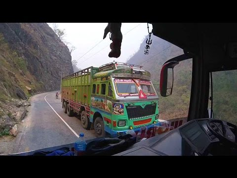 Crazy Nepal Bus Journey from Kathmandu to Pokhara