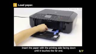 PIXMA MG5722: Loading paper media for printing