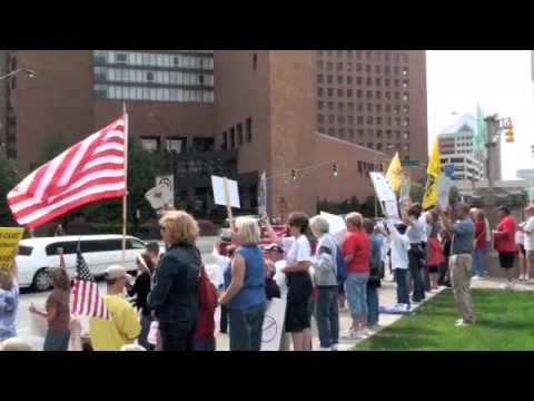 Healthcare protest in Indianapolis