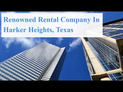 Renowned Rental Company In Harker Heights, Texas