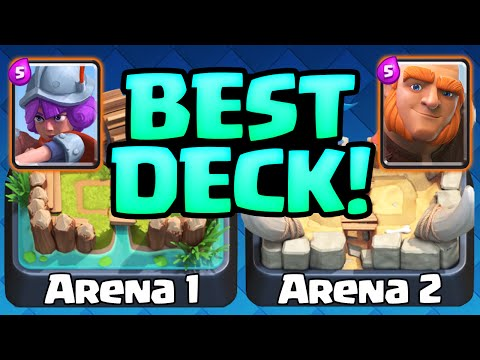 Clash Royale Gameplay - The BEST Deck -  Arena 1 Arena 2 Decks!