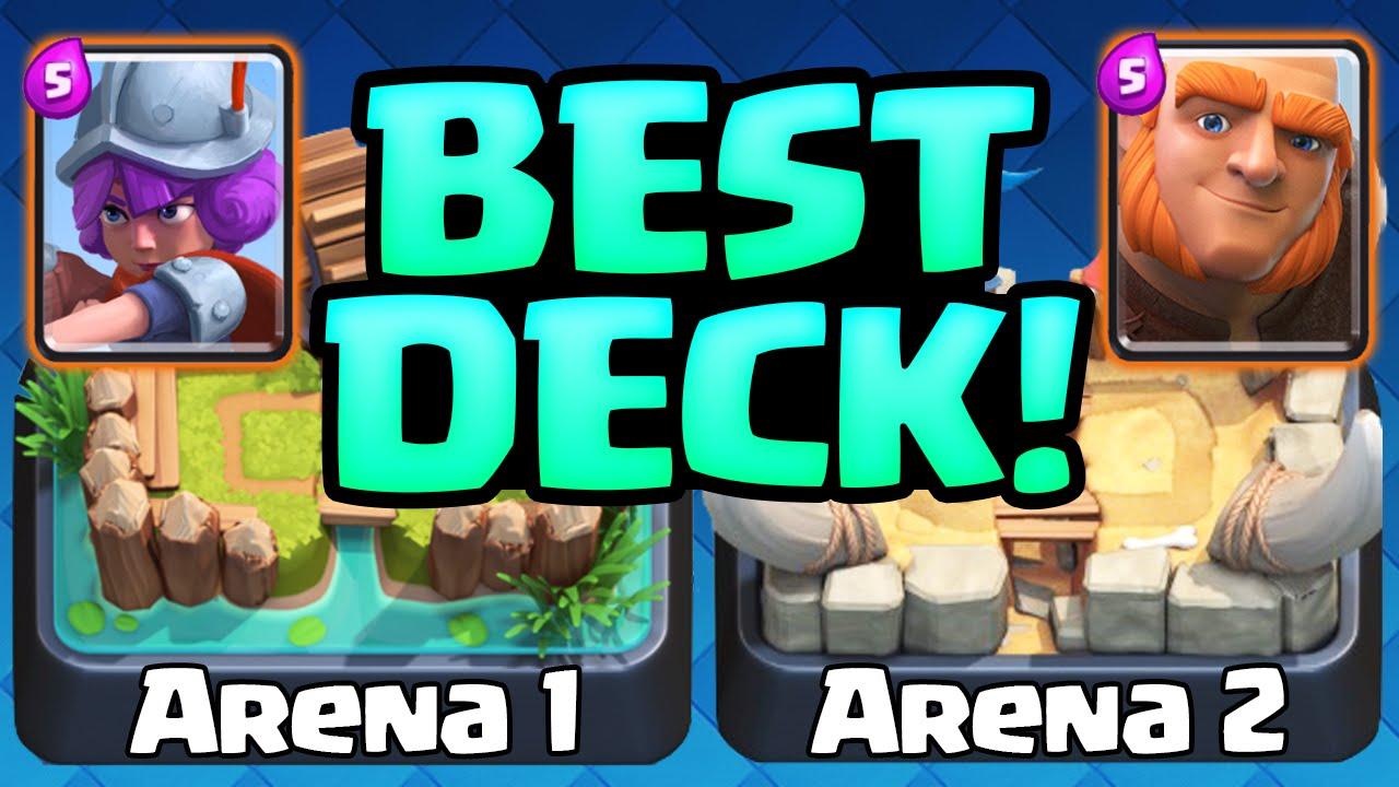 Clash Royale Gameplay - The BEST Deck - Arena 1 Arena 2 Decks ...