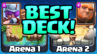 Clash Royale Gameplay - The BEST Deck -  Arena 1 Arena 2 Decks!