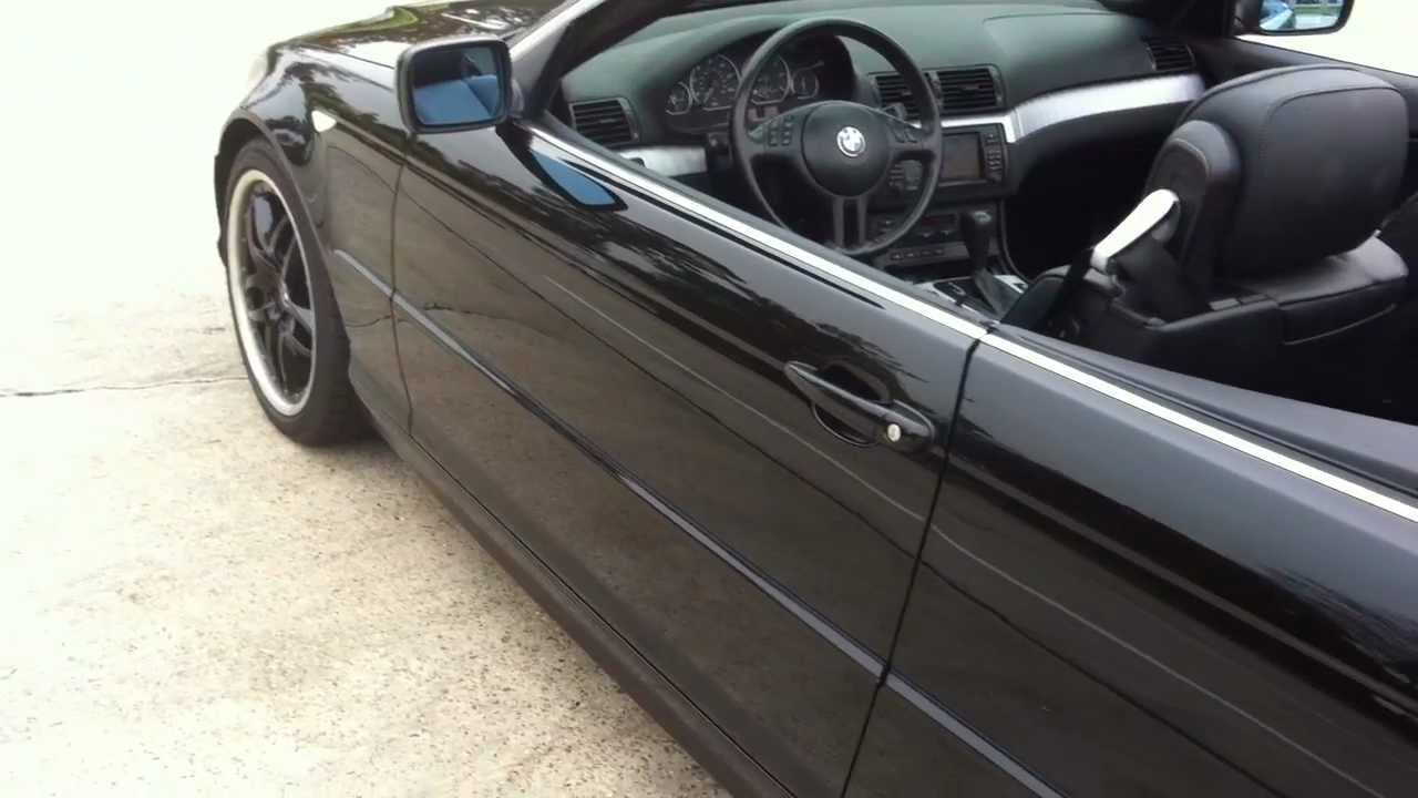2004 BMW 330ci Convertible Triple Black - YouTube