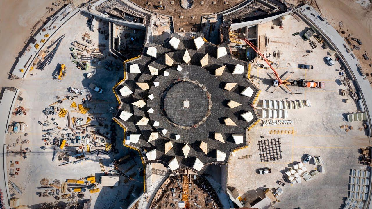 Shrine of 'Abdu'l-Bahá: Plaza walls completed, trellis construction begins | BWNS
