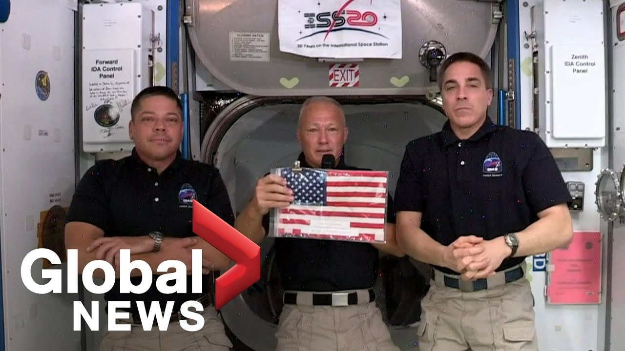 Astronaut Doug Hurley tweets pic of American flag from International ...