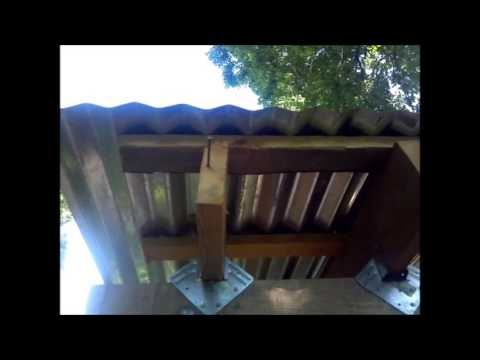Building Shed With Rough Cut Lumber Putting On Tin Roof Youtube