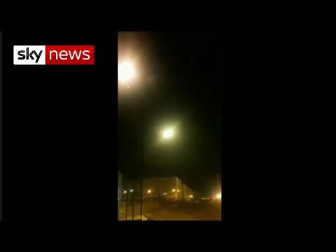 The moment the 'missile' hit the Ukranian plane over Tehran