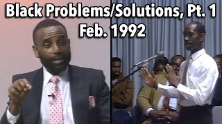Black History Month 1992: Problems and Solutions (Part 1)