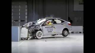 Лобовой краш тест НАМИ Hyundai Solaris Хёндай Солярис смотреть