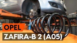 OPEL ZAFIRA B (A05) hátsó és első Rugózás szerelési: ingyenes videó