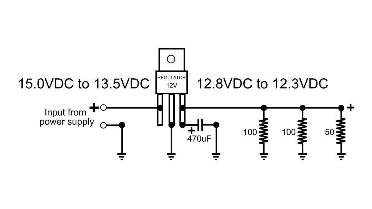 12 vdc voltage regulator how does it function in circuit [ 1280 x 720 Pixel ]