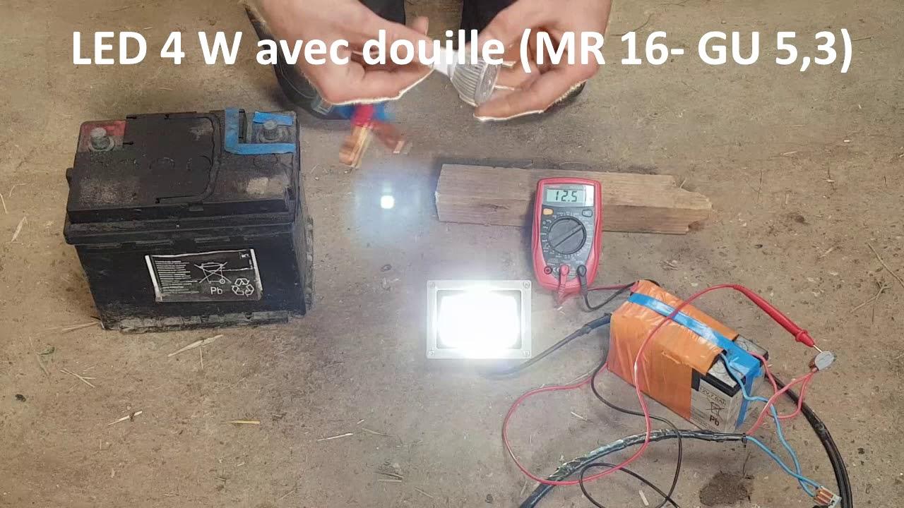Éclairage (12V, autonome à partir de batteriepanneau