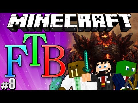 "Minecraft: Feed the Beast #9 ""Attack of the Big Golem"""