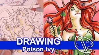 Poison Ivy - Copic Marker Drawing [Day 15]