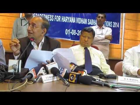 Chief Election Commissioner, Mr V.S Sampath PRESS CONFERENCE 01-08-2014