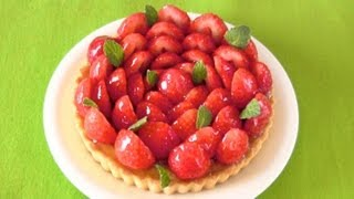 Easy Sugar-Free Fresh Strawberry Tart 簡単ノンシュガー苺タルト (レシピ) - OCHIKERON - CREATE EAT HAPPY
