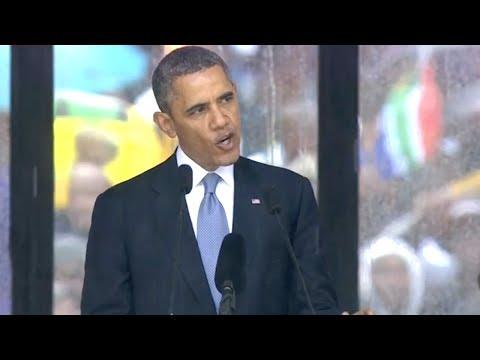 Obama's Complete Nelson Mandela Memorial...