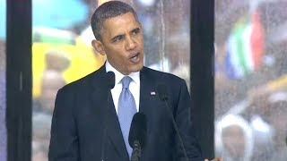Repeat youtube video Obama's Complete Nelson Mandela Memorial Speech