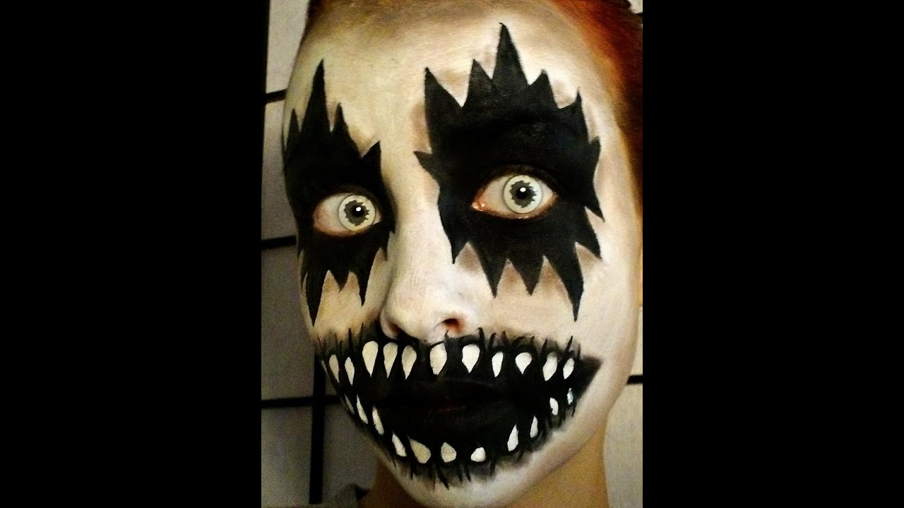 halloween series 2013 easy ghostspirit makeup youtube - Easy But Scary Halloween Makeup